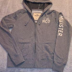 Hollister zip up hooded sweatshirt